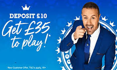 Jackpot Joy – Deposit £10 Play With £35 Now‎