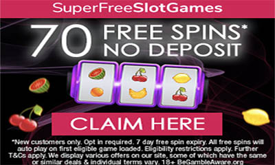 Free Slot Games – 70 Free Spins No Deposit