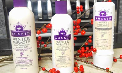 Free Aussie's Winter Remedy 3 Minute Miracle Haircare Bundle