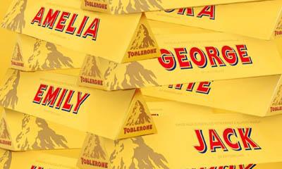 Free Personalised Toblerone Chocolate