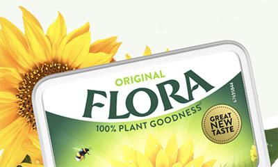Free Flora Margarine Tub
