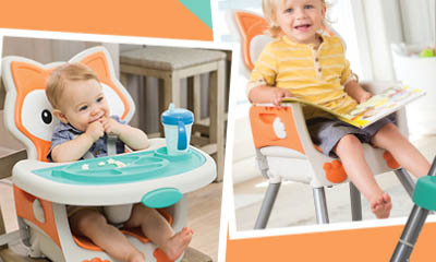 Free Grow-With-Me 4-in-1 Convertible High Chair