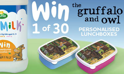 Free Gruffalo and Owl Personalised Lunchbox