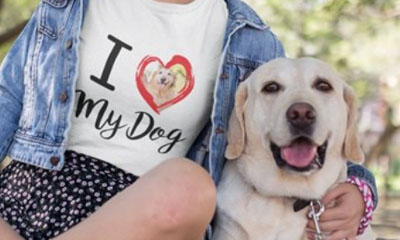 Free Personalised Dog T-Shirt