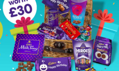 Free Cadbury Birthday Chocolate Baskets