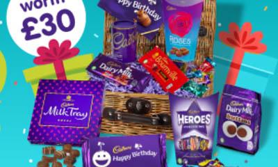 Free Cadbury Birthday Chocolate Baskets