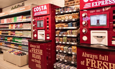 Free Coffee Costa Express Machines