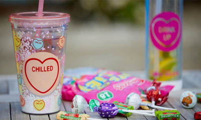 Free Love Hearts Water Bottle