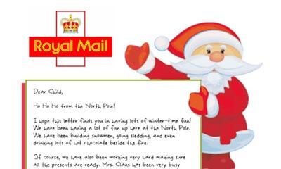 Free Santa Letter from Royal Mail