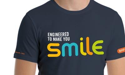 Free Smile Print T-Shirts