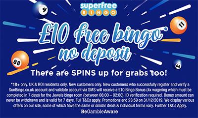 Grab £10 Free Bingo*, No Deposit!