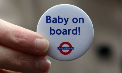 Free 'Baby On Board' Badge