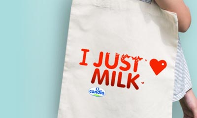 Free Just Milk Cotton Tote Bag
