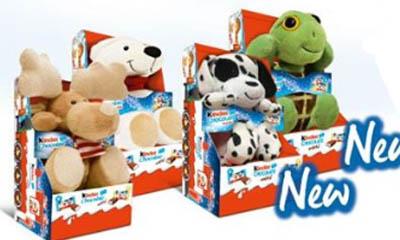 Free Kinder Fluffy Toy & Reindeer Headband