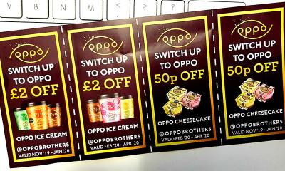 Free £5 Oppo Ice Cream Voucher