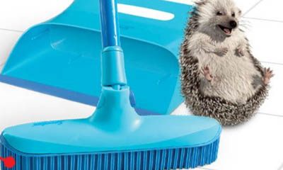 Win a Spontex Catch & Clean Rubber Broom & Dustpan Set