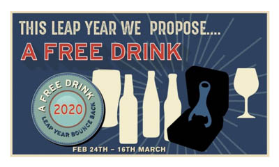Free Leap Year Drinks at your Local Pub