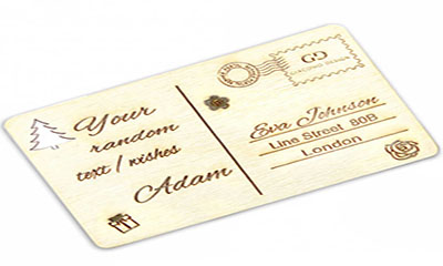 Free Wooden Gift Card